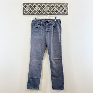 Madewell Rail Straight Jeans Gray/Blue, Size 28x32